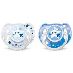 Philips Avent SCF170/22 - Chupete nocturno (2 unidades, 6-18 meses, brilla en la oscuridad, no es posible elegir el color)