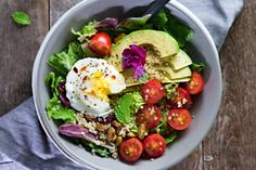 A salad for breakfast WHAAA??? I know, I KNOW. I'm way mixing it up over here. But trust me, friends, this Poached Egg & Avocado Breakfast Salad is perfect for a deliciouslybalanced breakfast (or lunch....or dinner...)!