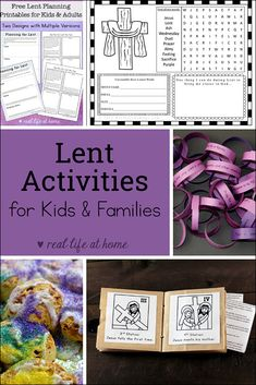 Lent Activities for Kids and Families - featuring hands-on Lenten activities, pr. - Lent Activities for Kids and Families – featuring hands-on Lenten activities, printables for Lent - Holy Week Activities, Hands On Activities, Kindergarten Activities, Family Activities, Indoor Activities, Summer Activities, Indoor Games, Toddler Activities, Holy Week For Kids