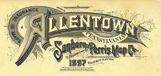 Allentown, Pennsylvania 1897 by peacay, via Flickr. Kansas City, Missouri December 1895 by peacay, via Flickr.  Sanborn Map Company typography.