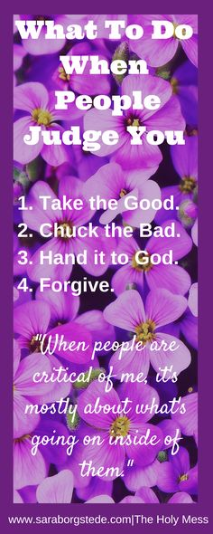 What To Do WhenPeople Judge You. Click on the blog to read more.