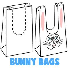 How to Make Easter Bunny Treat Bags #Easter Celebrations: #DIY Projects