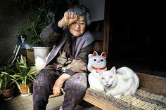 Misao the Big Mama and Fukumaru the Cat. http://amzn.to/RpH09n