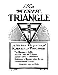 The forerunner to the Rosicrucian Digest from 1925 through Dr. Spencer Lewis published the Mystic Triangle which is now known as the Rosicrucian Digest. Occult Symbols, Masonic Symbols, Ancient Symbols, Occult Books, Pantheism, Magnum Opus, Freemasonry, Sacred Geometry, Temples