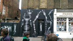 Street art by Phlegm - brick lane.