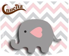 Baby Elephant in Grey and Pink Chevron: Free Printable Invitations and Free Printable Candy Bar Labels. Free Printable Invitations, Free Printables, Candy Bar Labels, Fiesta Baby Shower, Baby Elephant, Pink, Creme, Template, Grey Chevron