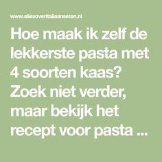 Hoe maak ik zelf de lekkerste pasta met 4 soorten kaas? Zoek niet verder, maar bekijk het recept voor pasta met 4 soorten kaas op AllesOverItaliaansEten.nl!
