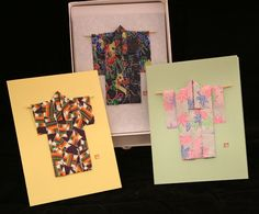 Origami kimono cards...