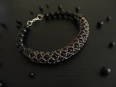 Tutorial Video -- How to Make a Tubular Netting Stitch Bead Bracelet. МК. Жгут из бисера и бусин - YouTube