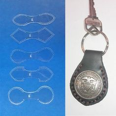 DUAL KEYFOB TEMPLATE SET FOR LEATHER CRAFT - 5 PIECE - FREE SHIPPING - NEW 2013 #BLACKRIVERLASER