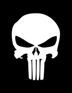punisher stencils | Punisher Airbrush Stencil