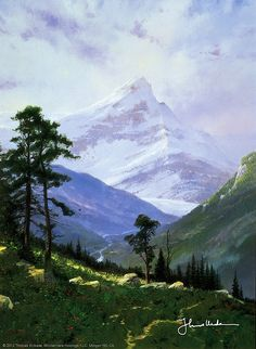Thomas Kinkade - Spring in the Alps  1994