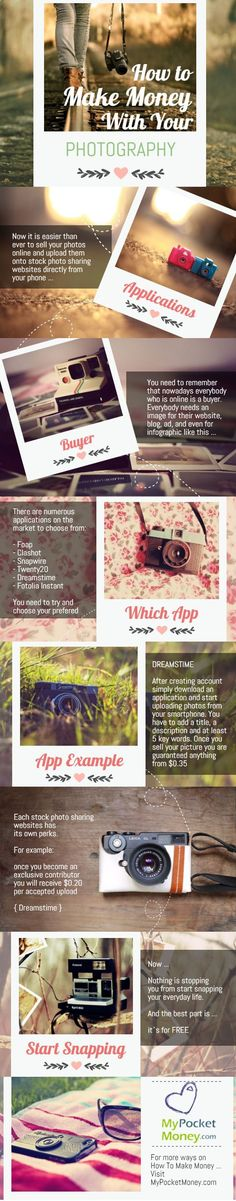 If you would like to make some quick money on the side with photos you already have in your smartphone then read on :) Visit www.mypocketmoney... for more ideas how to earn money online and get a free lesson. #pocketmoney #earnmoneyonline #mypocketmoney Money Making Ideas, Making Money, #MakingMoney