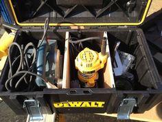 dewalt tough system Van Storage, Trailer Storage, Tool Storage, Dewalt Tough System, Dewalt Power Tools, Van Racking, Garage Workshop, Workshop Ideas, Racking System