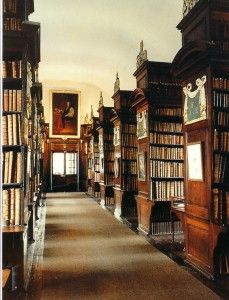 Marsh's Library, oldest public library in Ireland, founded in 1701, Dublin, Ireland.