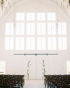 """Shakira walked down the aisle as her cousin sang """"Yours Forever."""" For Travis, it was another emotional moment: """"I couldn't take my eyes off her during her whole walk,"""" he says. #Wedding #Bride #Ceremony #AllWhite #Rustic #Barn #Details #WeddingInspiration 