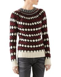Gucci Embellished Wool-mohair Sweater - Lyst