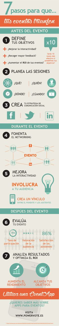 7 consejos para que tus eventos triunfen #infografia #infographic #marketing