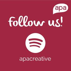 Looking for an inspiring playlist? Follow us on Spotify! http://spoti.fi/2pA4EdR  www.apacreative.com