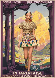 Dolce & Gabbana x Vintage Travel Posters (by Miss Moss)
