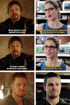Ra's Al Ghul, Oliver & Felicity #Arrow #TheOffer