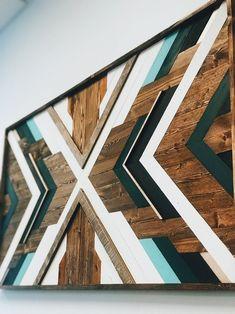 Geometric wood wall art wood mosaic reclaimed wall art Etsy x art diy art easy art ideas art painted art projects