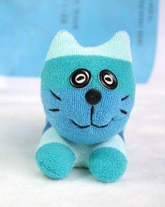 hand made stuffed animals | Handmade stuffed animal Cat sock dolls Soft Toys Kitties sock toys ...