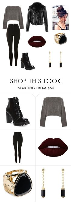 """Untitled #17"" by tayaaisik on Polyvore featuring Jeffrey Campbell, Topshop, Lime Crime, Aurélie Bidermann and David Yurman"