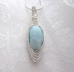 Rock Green Herringbone Pendant Necklace - just lovely