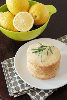 Lemon Rosemary Shortbread! A surprisingly delicious combination!