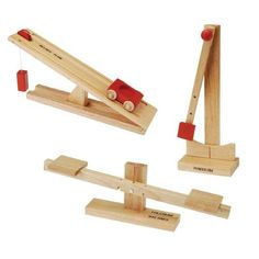 Six hardwood simple machines exploring different properties of physical science. Includes The Fulcrum Balance the Pendulum the Inclined Plane the Wheel & Axle the Gear and the Pulley. Science Kits, Science Fair Projects, Science Fun, Teaching Science, Art Projects, Xmas Gifts For Kids, Inclined Plane, Stem Classes, Physics Experiments