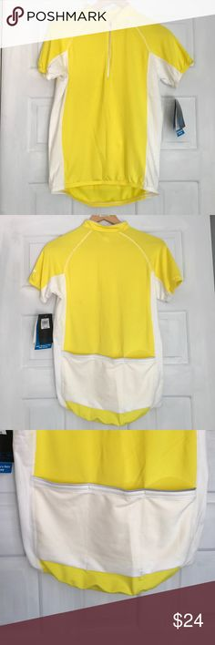 EMS women's small 1/2 zip cycling jersey short New with tags.Great for warmer riding conditions. Three pockets at the back hold riding essentials.  Smoke and pets free. eastern mountain sport Tops Tees - Short Sleeve