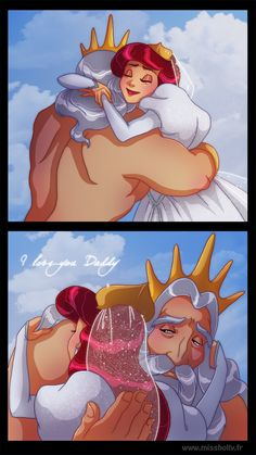 Father and Daughter - Ariel and King Triton - The Little Mermaid