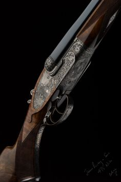 The shape of the Beesley side-lock provides a graceful area for engraving, here seen on a Purdey 475 Nitro Express double rifle. (Picture courtesy of theexplora.com).