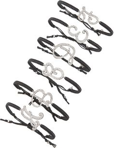 Pave Initial Bracelet Black By Tai At Neiman Marcus