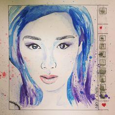 Artspiration: @iamkareno; Entitled: #iamkareno; Materials: #watercolor, @copicmarker. #copicworks #painting #drawing   By: FarlyCreates www.farlycreates.com