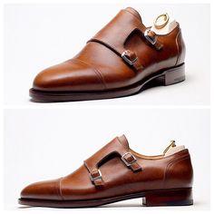 Double Monk Stefano Bemer Sock Shoes, Men's Shoes, Shoe Boots, Double Monk Strap Shoes, Keep Shoes, Shiny Shoes, Fashion Shoes, Mens Fashion, Leather Dress Shoes
