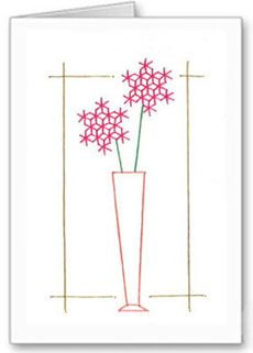 Flowers in a vase stitching card pattern Stitching Patterns, Card Patterns, Hand Stitching, Embroidery Cards, Sewing Cards, Flower Embroidery Designs, Pin Hole, Clothespins, String Art