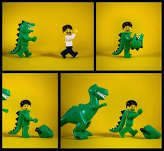 LEGO Dinosaur Scare #Lego #dinosaur #story #comics #fun #humor #legodinosaur #minifigure