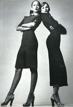 Vogue Italia March 1972  Apollonia van Ravenstein and Pat Cleveland
