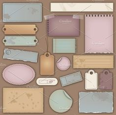 I want this one!  Vintage Paper Vectors and Clipart by PinkPueblo on @creativemarket