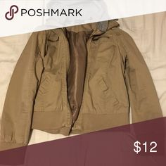 Beige zip up hoodie - Rue 21 M/L Had it for a couple of years but only used once or twice, still in great condition Rue 21 Jackets & Coats Jean Jackets