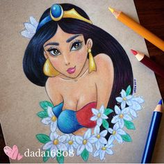 33 Best Ideas for drawing disney sketches princess jasmine Cute Disney Drawings, Disney Sketches, Cartoon Drawings, Art Drawings, Disney Artwork, Disney Fan Art, Amazing Drawings, Colorful Drawings, Jasmine Drawing