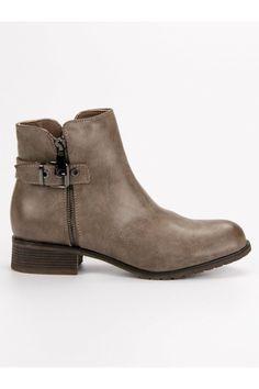 Topánky na plochom podpätku Super Mode Platform, Ankle, Shoes, Fashion, Moda, Zapatos, Wall Plug, Shoes Outlet, Fashion Styles