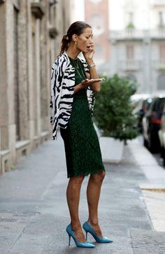 Marpessa Hennink by the Sartorialist wearing her Dolce&Gabbana