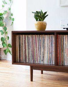 Large Record Storage Cabinet   Etsy Vinyl Record Storage, Lp Storage, Storage Cabinets, Vinyl Record Cabinet, Record Shelf, Stockage Record, Lp Regal, My New Room, Mid Century Design
