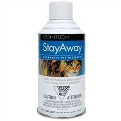 StayAway Pet Deterrent Refill by Contech. $11.00. Contech. STAYAWAYREFILL. Cat Products. STAYAWAYREFILL Features: -Pet deterrent refill.-The mini scarecrow safely and humanely protects your covered porch or patio, potted plants, or countertops.-Adjustable detection angle and spray angle.-You can switch to, sound only mode to conserve compressed air.-Each can holds over 200 sprays.-The motion sensor and spray are separately adjustable so they can be positioned ...