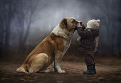 Elena Shumilova, Russian photographer.  (Click through for a collection of wonderful photos of her sons and their animal friends on their farm. rw)