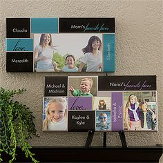 LOVE the colors and design of this canvas - you can upload your own photos and personalize it with your own writing. This is a great Father's Day gift idea!