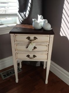 Distressed Delightful Three Drawer Accent Table by Thistle Thatch Designs